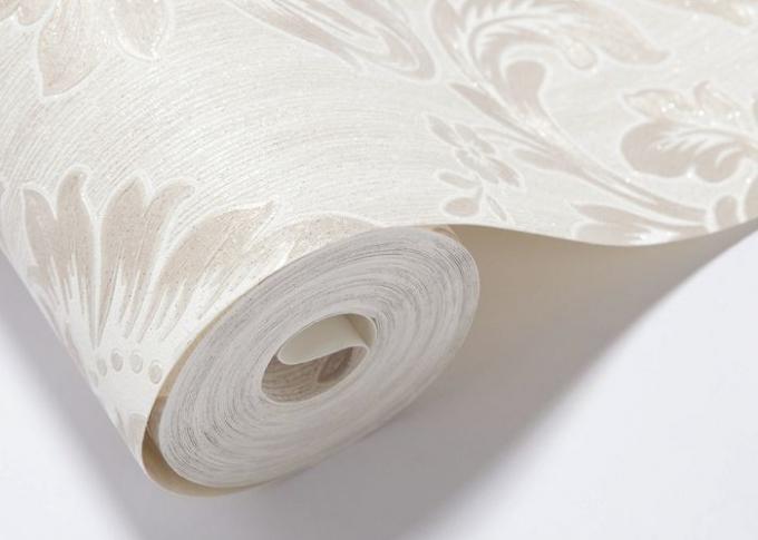 Carta da parati lavabile del vinile del salone carta da for Carta parati bianca