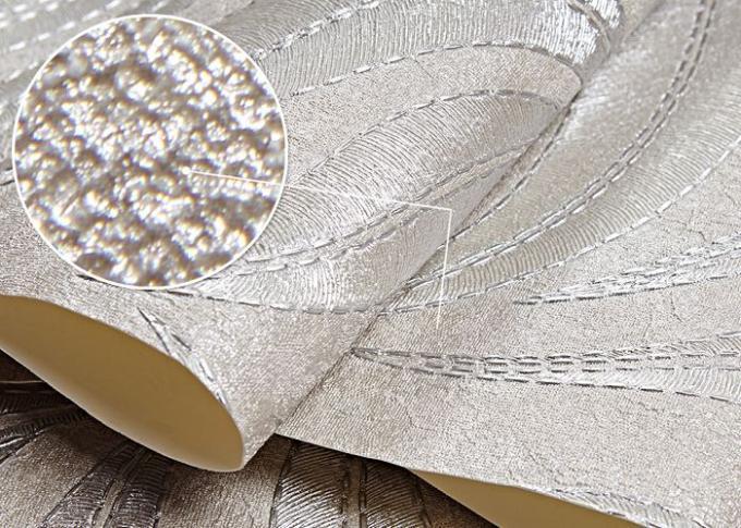 Carta da parati bianca d 39 argento a prova d 39 umidit del for Parati da salone