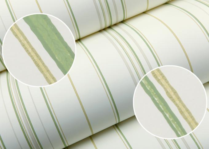 Carta Da Parati A Righe Verdi : Carta da parati a righe verdi campione di carta da parati serie