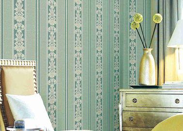 Carta da parati floreale a strisce classica lavabile, rivestimenti murali durevoli materiali del vinile