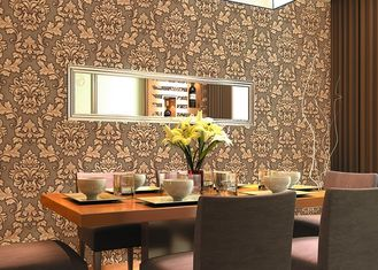 carta da parati floreale impressa prezzo economico di 0.53*10m per la decorazione domestica, SGS CSA elencato