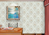 Damask Interiors Europe Wallpaper , Soundproof British Style Wallpaper with Embossed Surface