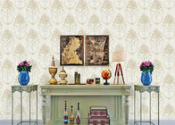 Soundproof Modern Removable Wallpaper / Contemporary Bathroom Wallpaper With Beige Color