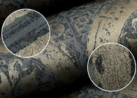 Waterproof Circle Retro Vintage Wallcovering / 0.53*10M Black Bedroom Wallpaper