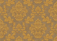 0.53*10m Cheap Price Embossed Floral Wallpaper for Home Decoration , SGS CSA Listed