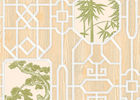 Bamboo And Tree Geometric Printing Chinese Style  Wallpaper Simulated Wood Grain