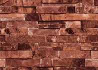 Grey / Brick Red PVC Foam 3D Brick Effect Wallpaper Home Decoration Wallpaper