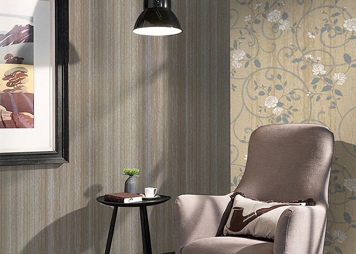 Plain Color 1.06m Korean Wallpaper / Modern House Wallpaper Removable , Non Woven Materials